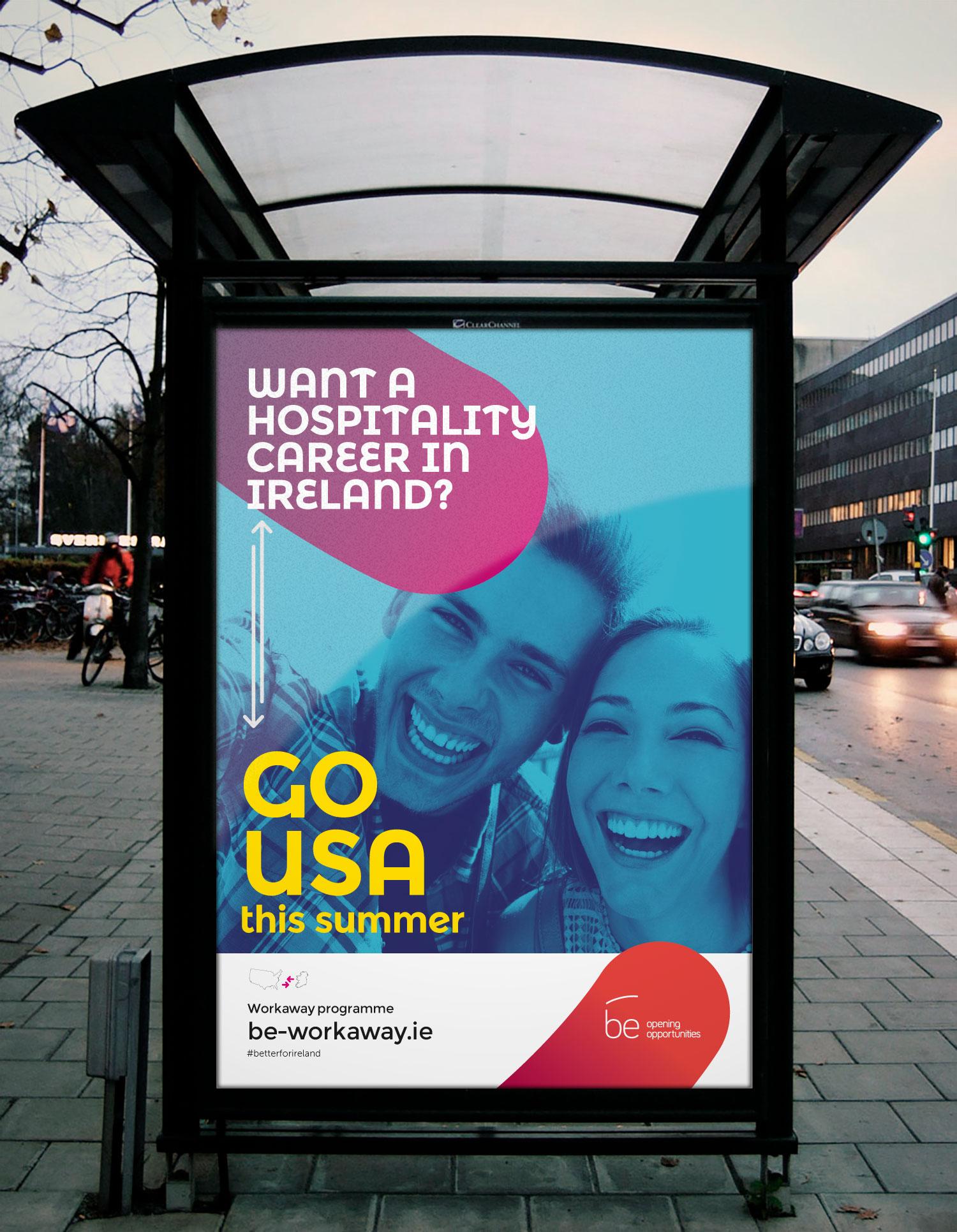 Campaña de publicidad en mobiliario urbano