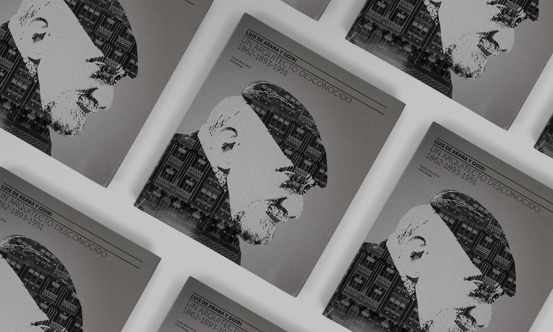 Montaje libro Luis de Arana y Goiri diseñado por Ouidesign