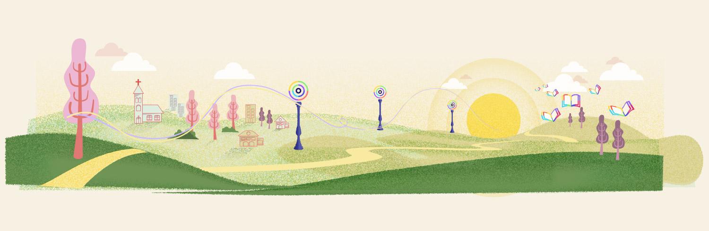 Diseño ilustración itinerario Esnatu