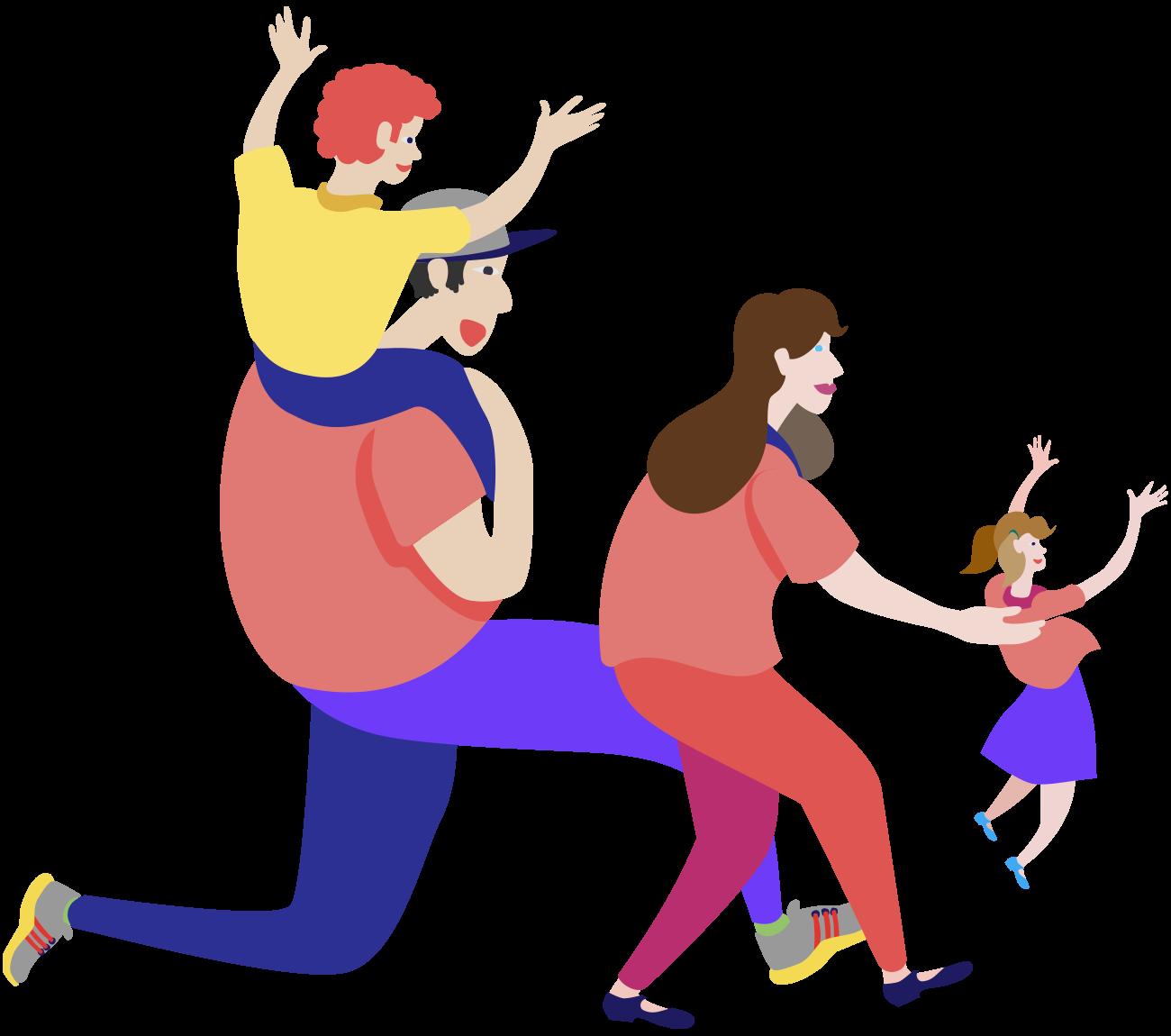 Diseño ilustración familia
